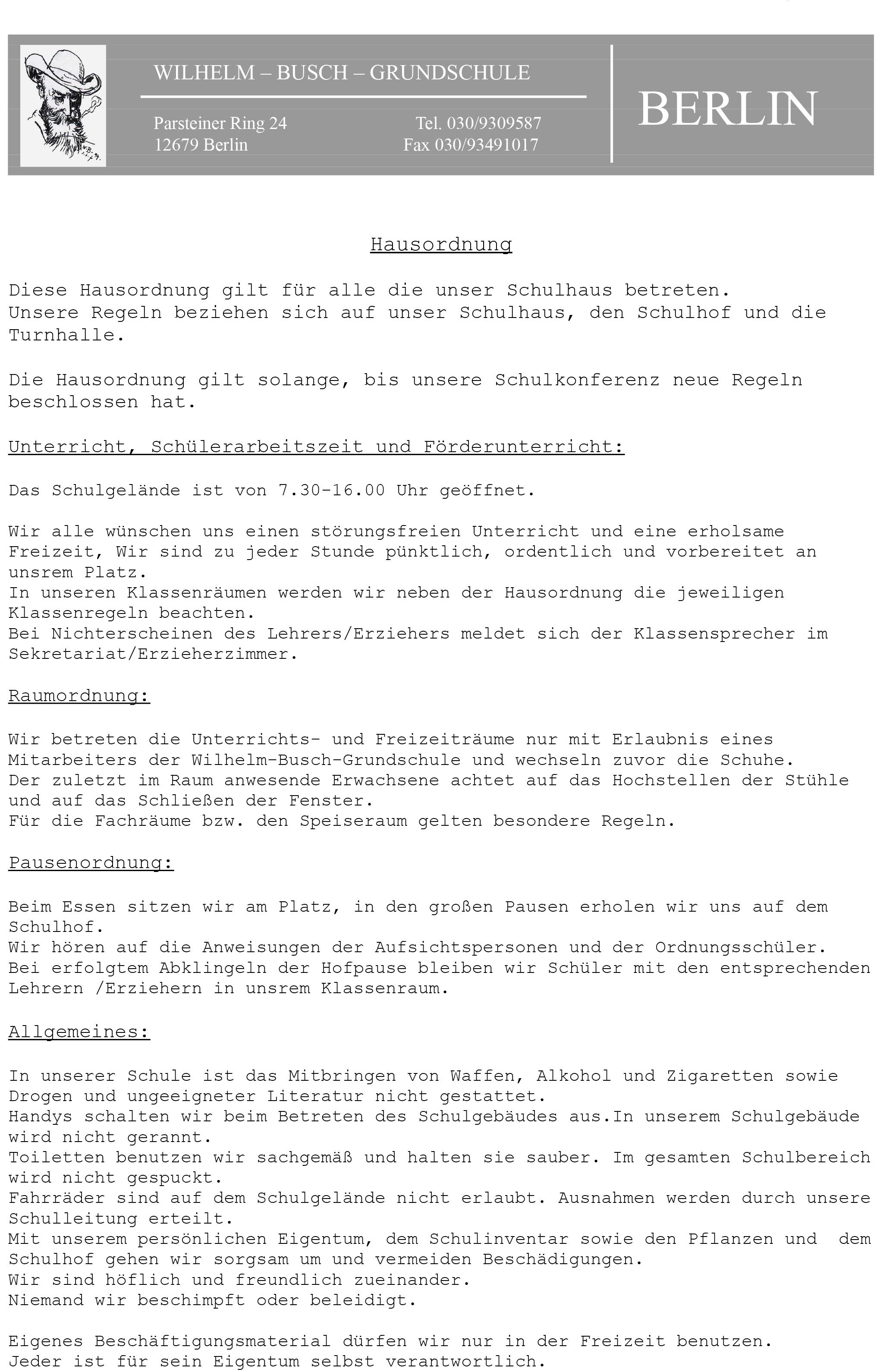 Briefkopf Wilhelm-Busch
